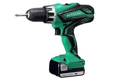Hitachi DV14DJL Taladro percutor-Atornillador 14,4 V 2 Litio Deslizante 1,5 Ah, 100 W, 14.4 V, Schwarz, Grün: Amazon.es: Bricolaje y herramientas