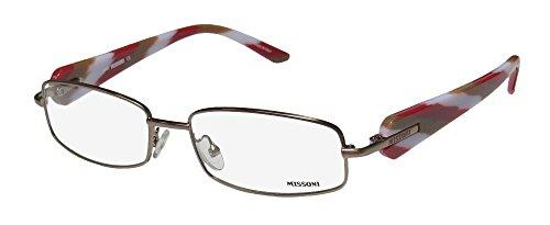 Missoni 16103 Womens/Ladies Designer Full-rim Eyeglasses/Spectacles (53-16-135, Light Brown / - Glasses Missoni Frames