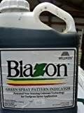 spray pattern indicator - Blazon Green Spray Pattern Indicator (Non-Staining) - 1 Gallon