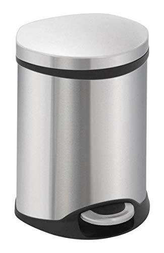 (EKO Shell Shaped Pedal Bin, 6Liter, Stainless Steel Matt )