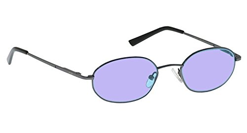 Ace Didymium Glass Working Spectacles in Stylish Small Metal Safety Frame with Removable Side Shields - 49-18-140mm Eye Size by ACE Glass (Image #1)