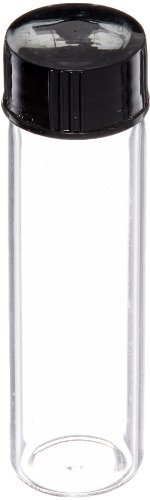 Case Of 144 Premium Life Glass Vials - 2 Dram (2/8 oz) Clear With Screw Caps Clear Glass Screw Cap