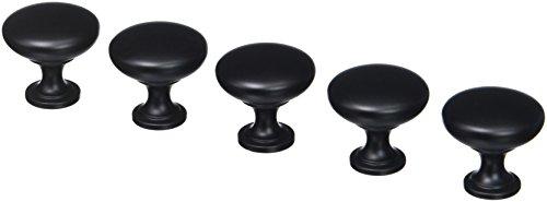 Amerock BP53005-FB Allison Flat Black Round Cabinet Knob, 15 Pack