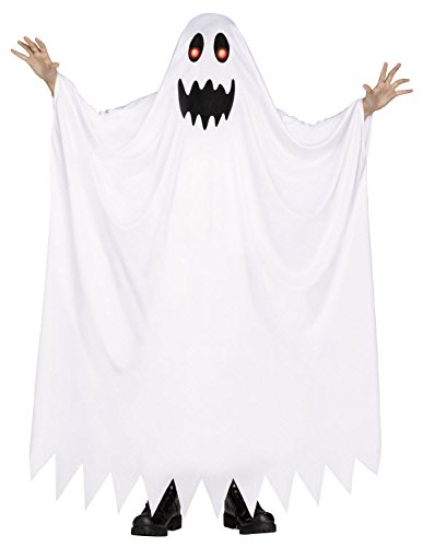 [Fade in & Out Ghost Kids Costume (Medium 8-10)] (Childrens Ghost Costume)