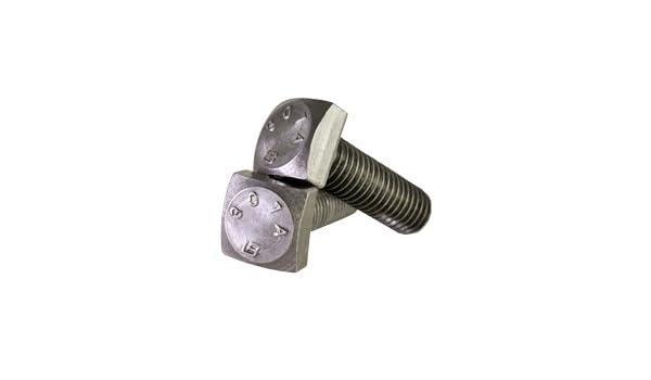Material: Steel Finish: Plain Head: Square Quantity: 100 Length: 3-1//2 Partial 1//4-20 x 3 1//2 A307 Grade A Square Head Bolt Plain Inch Size: 1//4-20 Drive: External Square