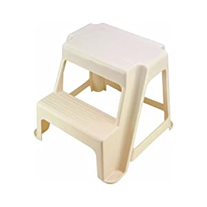 Amazon Com Rubbermaid Bisque 2 Step Stool Kitchen Amp Dining