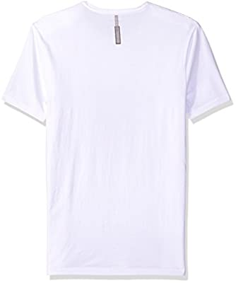 Calvin Klein Jeans Men's Short Sleeve Distress Molten Ck Logo Crew Neck T-Shirt