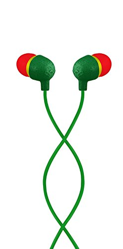 House of Marley EM-JE060-RA The House of Marley EM-JE060-RA Little Bird In-Ear Headphones - Rasta Rasta/Black
