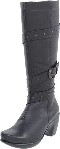 (Naot Women's Allure Chelsea Boot, Jet Black Leather, 40 EU/9 M US)