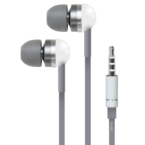 iSound EM-130 Stereo Earbuds with Microphone (white/gray)