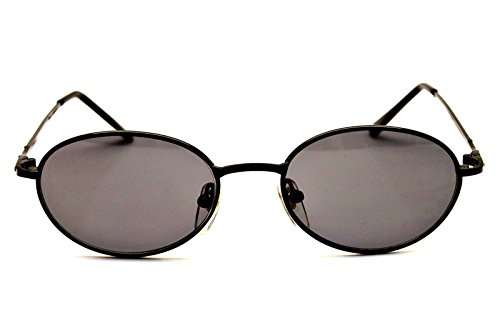 166831176a V3123-vp Vintage Style Oval Round 90s Retro Metal Small Lens Sunglasses