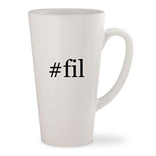 #fil - White Hashtag 17oz Ceramic Latte Mug Cup