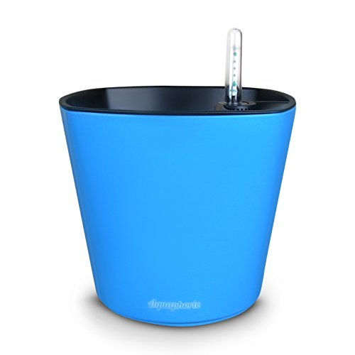 """UPC 731882329025, Self Watering Planter 7"""" + Water Level Indicator + Fiber Soil = Foolproof Indoor Garden and Happy Plants. Aquaphoric Planter Pot for All House Plants, Herbs, African Violets, Succulents-It's Easy."""