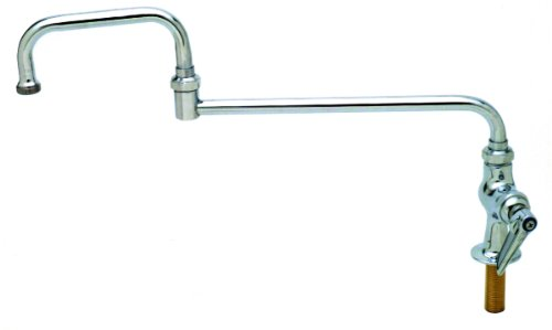 T&S Brass B-0257 Single Pantry Faucet, Single Hole Base, Deck Mount, 12-Inch Double Joint Swing Nozzle
