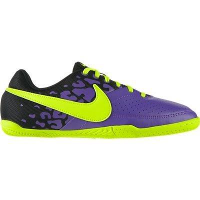 Kids Nike Jr Elastico II Indoor Soccer Shoe Pure Purple/Black/Volt Size 2 (Nike Elastico Sock)