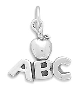 ABC with Apple Charm [Jewelry]