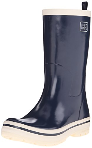 Helly Hansen Midsund Welly, Women's Rain Boots, Tech Navy / Off-white, 4 UK