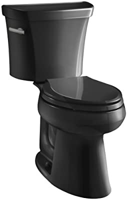 Kohler K-3999-7 Highline Comfort Height 1.28 gpf Toilet, Black Black