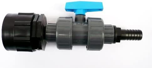 """2/"""" - S60-60mm IBC ADAPTER to 1.1//4/"""" ANGLED HOSE TAIL Garden Water Butt 32mm"""