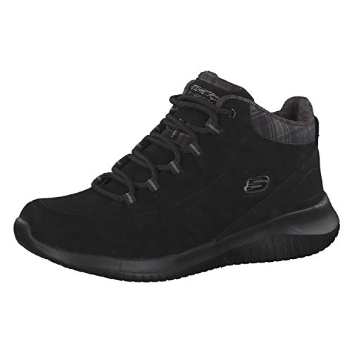 Schwarz Damen Stiefeletten Just Chill Ultra Skechers Flex BnYxwfHH