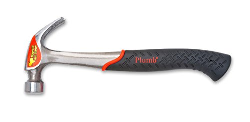 Plumb SS20CN 20-Ounce Solid Steel Curved Claw Hammer With Magnetic Nail Starter
