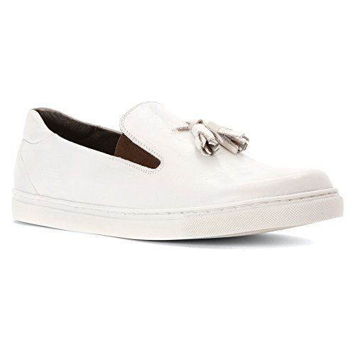 Hardy Mens Cain Loafers Shoes Dirty White
