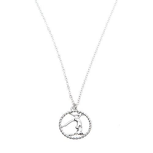 Girls Gymnastics Necklace, Gymnastics Jewelry - Gymnast Necklace for Gymnast ()