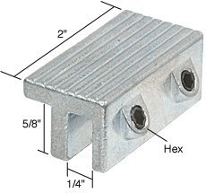 Aluminum tamperproof window lock dual hex screws tools for 1 cresci products window wedge 2 per pack white color