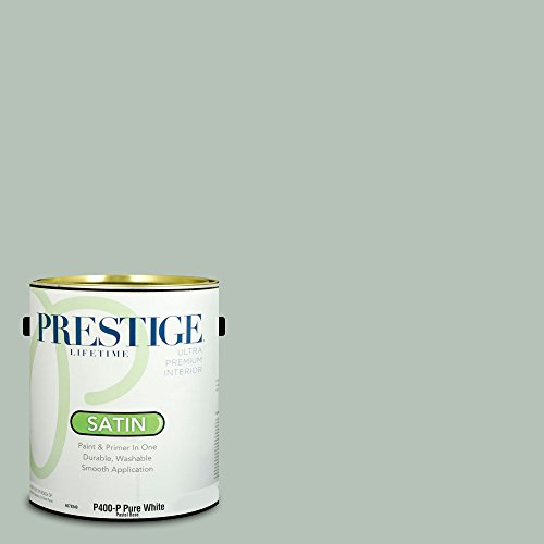 Prestige Paints Interior Paint and Primer In One, 1-Gallon, Satin,  Comparable Match of Behr Recycled Glass