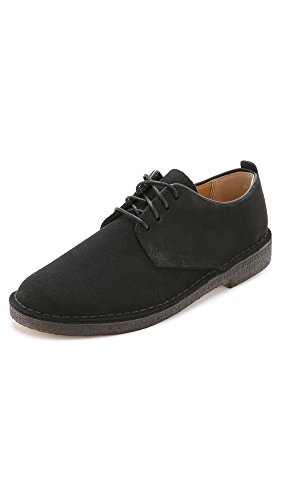 Clarks Wüste London Oxford Schuh Black Suede
