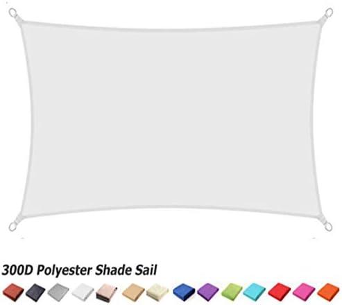 LIANGJUN シェードセイル シェード帆,シェードオーニング 日除け シェード バルコニー シェード シェード セイル 日よけ シェード オーニング 目隠し サンシェード 四角形 防雨 防水 シェードクロス 日焼け止め 厚く アウトドア 庭園、 160 G /㎡、 3色 (Color : White, Size : 4mx5m)