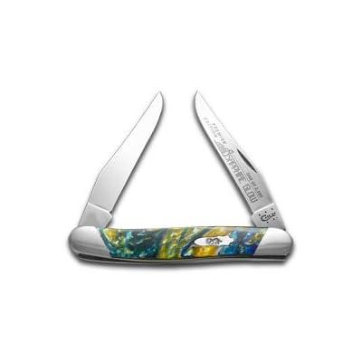 CaseXX XX Slant Series Sapphire Glow Corelon Muskrat 1/2500 Stainless Pocket Knife Knives