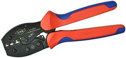 ケーブルカッター 圧着ペンチ サージコネクタ 手圧着工具 0.5-6mm² ラチェットプライヤー 手動ケーブルカッター