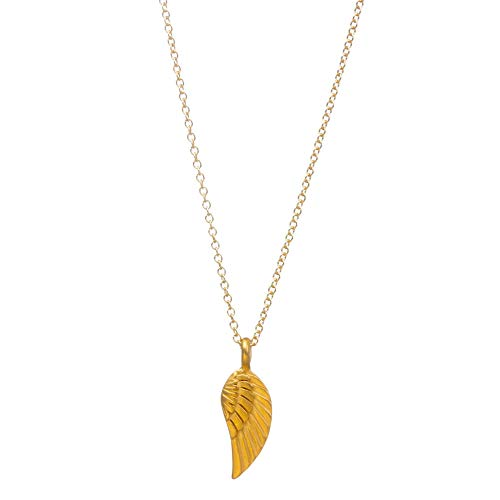 "Dogeared ""Love And Light"" Guardian Angel Wing Necklace, Gold Dipped 16"""