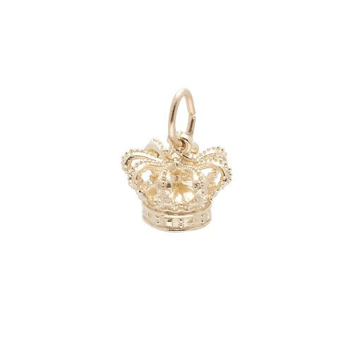 Rembrandt Charms, Crown, 10K Yellow Gold