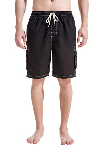 Akula Mens Beach Board Shorts Swim Trunks with Cargo Pockets