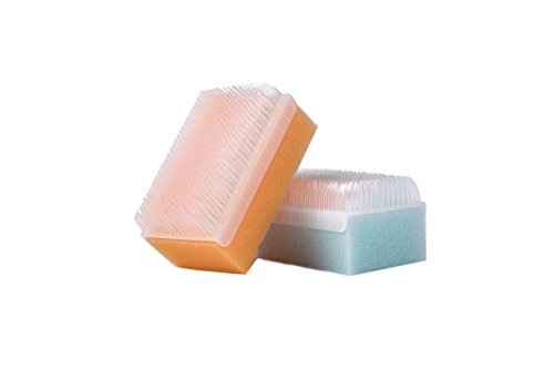 (Scalp Scrubbie 3-pk, Sterile, Cradle Cap And Baby Bath Time Sponge Brush)