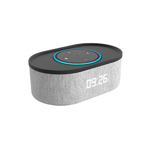 i-box Roost Bedside Alarm Clock and Speaker Dock for Amazon Alexa Echo Dot (2nd Generation)