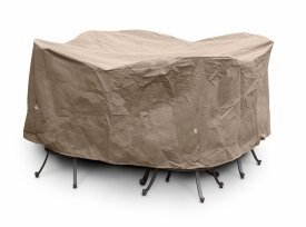 KoverRoos III 35251 Large Bar Set Cover with Umbrella Hole, 84-Inch Diameter by 40-Inch Height, Taupe by KOVERROOS