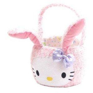 Hello Kitty Plush Bunny Easter Basket