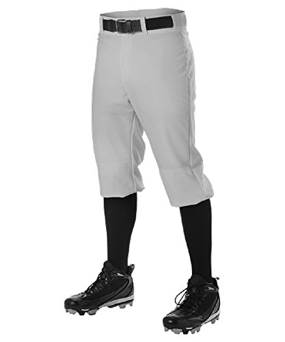 Alleson Youth Knicker Baseball Pant Gray Large ()