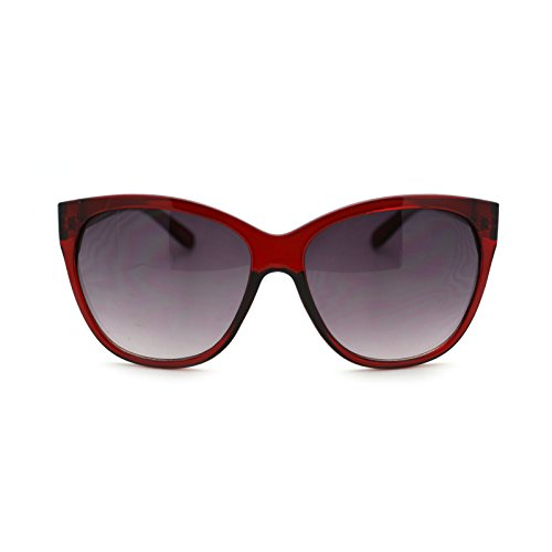 Simple Classy Fashion Womens Butterfly Frame Sunglasses - Burgundy Sunglasses