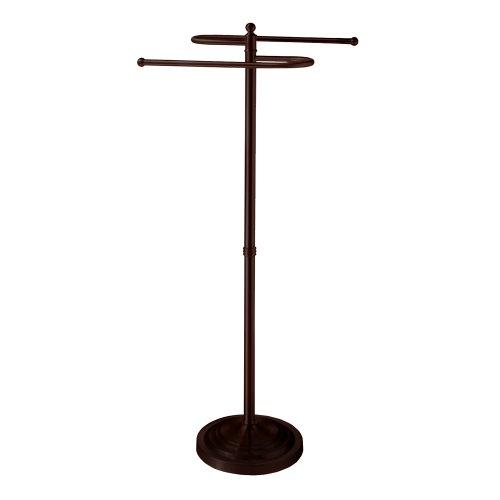 Gatco Bronze Towel Rack (Gatco 1508 Floor Standing S Style Towel Holder, Bronze)