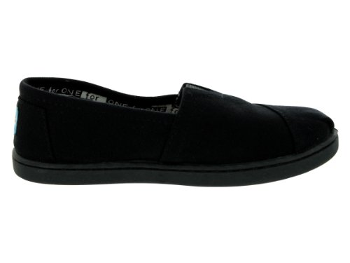 TOMs Unisex Alpargata Slip on Sneakers (Infant/Toddler/Big Kid), Black, 4.5 M US Big Kid
