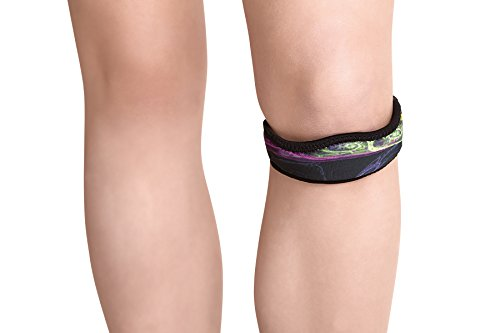 Brace Strap (itBandz Patella Knee Support Strap - Large - Galaxy - Durable Neoprene Multi-Function Brace - Provides Support Athletes, Arthritis, Tindinitis and Other Chronic Knee Issues)