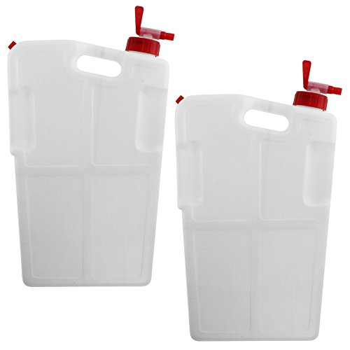 Spares2go Universal Camper Caravan Shelf Container Liquid Drinks Dispenser + Tap (4 Litre, Pack Of 2) by Spares2go