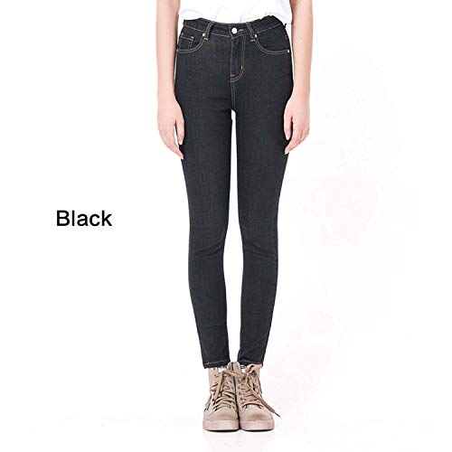 (Simply Q Jeans for Women High Waist High Elastic Plus Size Stretch Jeans Skinny Pencil Pants,Black,5XL)