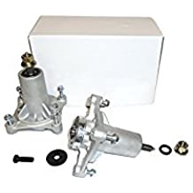 Set of Two 187292, 192870, 532187292, 532192870 Spindle Assembly with Grease Zerk, Husqvarna Craftsman Poulan