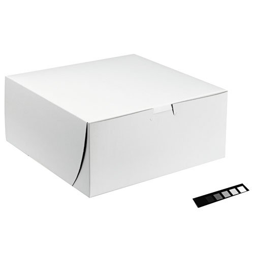 4quot; x 9quot; Tuck-Top Bakery Boxes in White by SCT