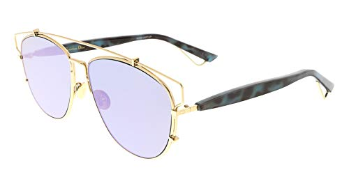 - CHRISTIAN DIOR TECHNOLOGIC Spotted Blue Lilac Flat Mirrored Sunglasses